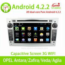EKK yıldızı toptan kapasitif android Opel Antara h/zafira araba ses obd dvd 3g wifi çoklu- Dokunmatik cpu 1.5 GHz rom 8g