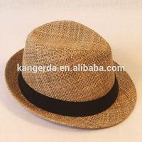 high quality straw fedora summer fashion hat