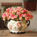 2014 yeni varış 18 kafaları küçük yapay çiçek gül düğün