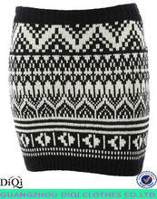 wholesale girls party short winter mini national style sweater skirt