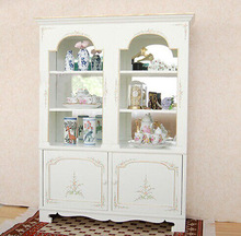 Living Wood Display Cabinet White Home Exhibition cabinet CW-V102