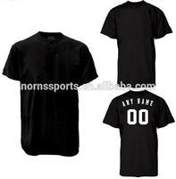 Black Sublimation Cheap Plain Blank Baseball Jerseys Wholesale