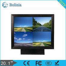 20 inch CCTV LCD Monitor Quad 4CH BNC input CCTV Monitor