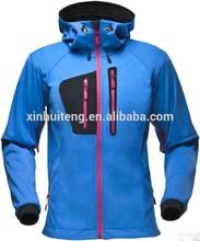 new softshell design men waterproof jacket with hoody