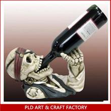 Polyresin Skull Head wine holder
