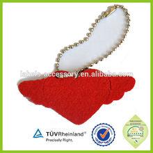Red heart shape felt promotional keyring for hot sale