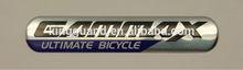 Liga de zinco metal cartas logotipo do emblema para vestuário e bolsas
