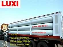 Twelve Tube Integrated Compressed Natural Gas System, ISO Container