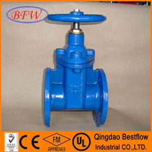 DIN3352 F4/F5 flanged end resilient seat non-rising stem gate valves PN16