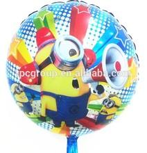 "18"" Despicable Me Birthday Celebration MINIONS Party Round Foil Balloon"