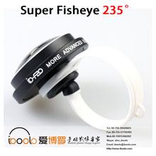 Universal clip 235 degree super fisheye lens for phone accessories
