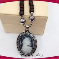 Wholesale New Design Hip Pop Wooden Bead Necklace