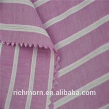Hot sales red white striped poplin fabric