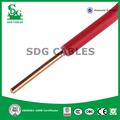 Ul 1015 PVC aislamiento de cable de cobre sólido 12 AWG