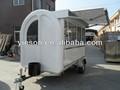 Grandes roues yieson fenêtres coulissantes électriques mobiles panier alimentaire/remorque alimentaire/van alimentaire