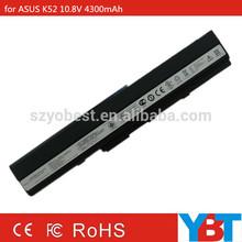 6 cells 10.8V 4300mAh laptop battery for ASUS A32-K52 A42-K52 K52F K52JR K52JR-A1 K52F-SX065X