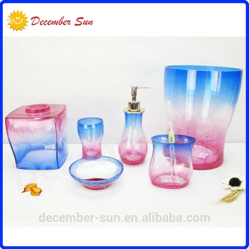 product gs walmart beautiful colorful glass soap dispenser bath accessories