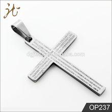 Stainless Steel Prayer Cross Pendants