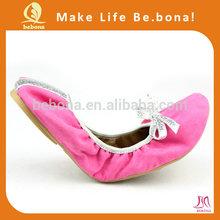 2014 fashion foldable women colorful dress shoes