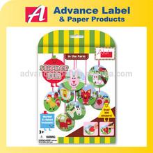 DIY Educational toy Color & Shape Hanging Farm Animal Sticker game K1: DIY Sticker fun Farm Animal Sticker game