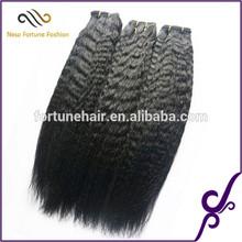 Wholesale Aliexpress Hair Kinky Straight Natural Color 100% Virgin Malaysian/Mongolian Afro Kinky Straight Yaki Hair Weave