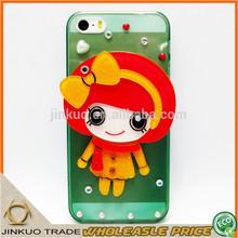 warm girl acrylic cartoon travel mirror cheap mobile phone cover sj039
