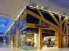 Shopping center kids garment retail store display kiosk