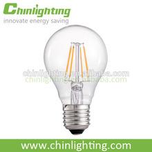 2014 Newest design 2w 4w 6w led filament bulb, e27 A60 led filament lamp