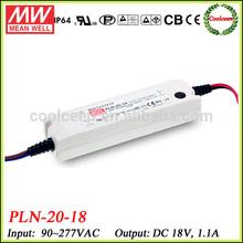 Meanwell PLN-20-18 20w led driver 18v 1.1a