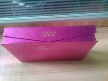 Custom rose glossy lamination paper box with magnet closure for cosmetics