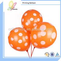 "2014 12"" 2.8g Orange Latex Free Balloon Wholesale Printable Balloons"