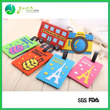 Hot Sale Popular Colorful silicone airline luggage tags cute travel tags