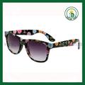 alta qualidade de óculos de sol por atacado transferência imprimir flor óculos de sol