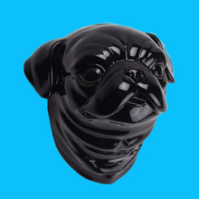 Head pug dog ceramic for decoration