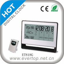 NEW 5 DAYS WEATHER FORECAST LCD CLOCK ET818G