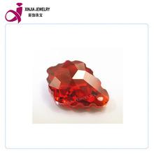 7x10MM decorative stone cz gemstone synthetic red diamond