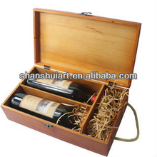 Custom design individual empty wooden luxury wine box wholesale