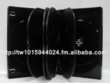 7mm 14mm black media packaging single double storage DVD case