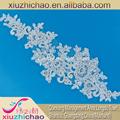 Hg0037( 2.3) ventas al por mayor fabricante de hueso de poliéster de malla de cuerda del bordado de la boda de cuentas con lentejuelas de tela de encaje