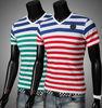 2014 New Summer Simple Stripes Men's V Collar Short T Shirt TS-W14071109