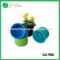 venda quente popular silicone colorido vaso de flor para o seu jardim