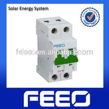 Double pole PV DC Miniature Electrical Circuit Breaker