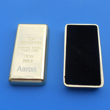 Gold Bar 24K Gold Plated alloy paper weight with custom engraved logo