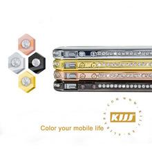 Luxury Rhinestone Aluminum Bumper Hybrid Diamond Metal Bumper Case for iphone 4s