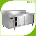 Bn-c18 gabinete de la cocina, gabinete de acero inoxidable, diseño de la cocina