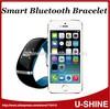 Guangzhou shenzhen waterproof bluetooth smart bangle supply for iphone smart phone accessories