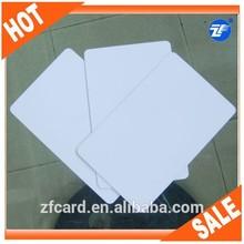 white color blank plastic id card for inkjet printer