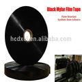 negro película de mylar cinta retardante de llama de adhesivo de resina sintética para el conducto flexible
