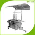 Bn-617 in acciaio inossidabile personalizzare vending carrello hot dog