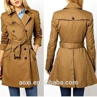 OEM wholesale Custom-made alibabaladi es long summer maxi coats blazer buttons cotton wind coat winter ladies formal topcoat